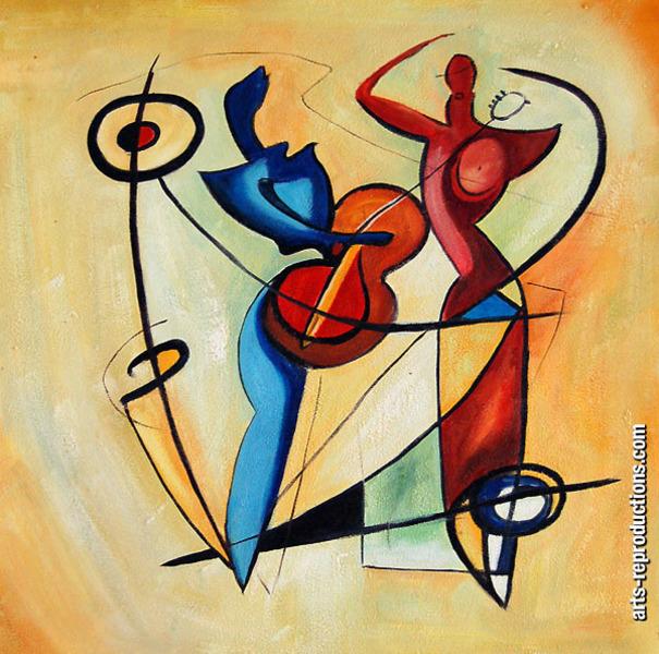 Peinture sur toile krm 117 tableau tableaux musique arts for Reproduction de tableaux modernes