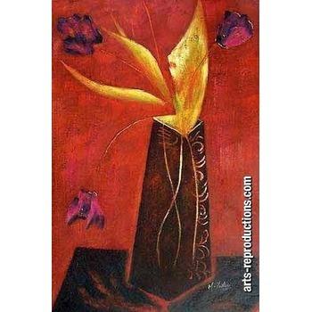 tableau abstrait pas cher riabstract309 tableau tableaux fleurs arts reproductions peinture l. Black Bedroom Furniture Sets. Home Design Ideas