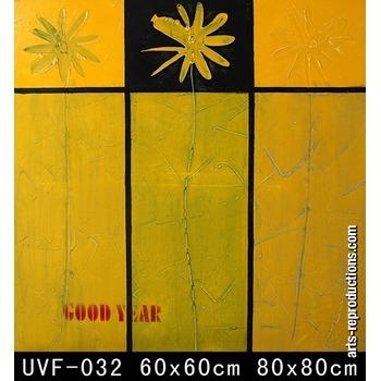 Tableau art contemporain pas cher uvf 032 tableau tableaux fleurs arts reprod - Art contemporain pas cher ...