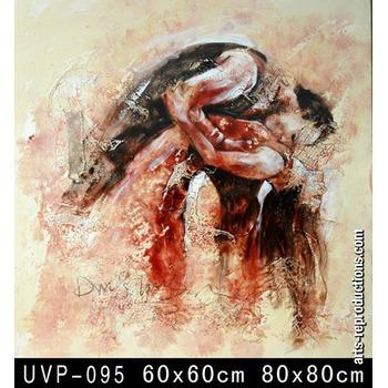 Tableau peinture l huile couple danseurs 95 tableau tableaux danse arts rep - Tableau peinture al huile ...