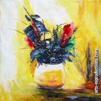 Tableau moderne pas cher yvab1182 tableau tableaux fleurs arts reproductions - Peinture tableau contemporain moderne pas cher ...