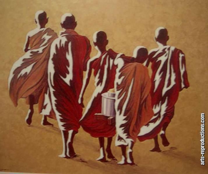 Vente peinture sur toile cibuddha90 tableau tableaux d co - Tableau peinture zen ...