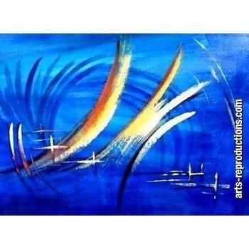 Peinture moderne yvab1340 tableau tableaux abstraits arts reproductions pein - Tableau peinture a l huile moderne ...