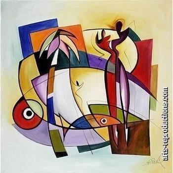 Peinture art moderne yvab1394 tableau tableaux abstraits for Reproduction de tableaux modernes