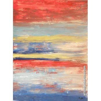 Peinture moderne entre ciel et mer tableau editions limit es arts reproductio - Tableau peinture a l huile moderne ...
