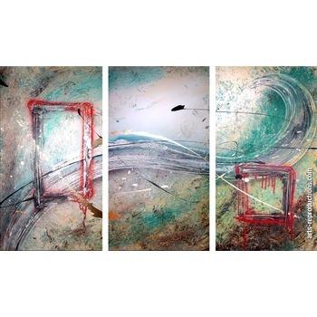 Tableau abstrait triptyque JONAD354 tableau Tableaux Triptyques Arts ...