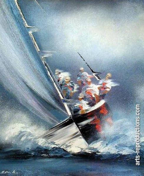 Reproduction sur toile divmarine51 tableau tableaux paysages mer arts reprodu - Tableaux tryptiques contemporains ...