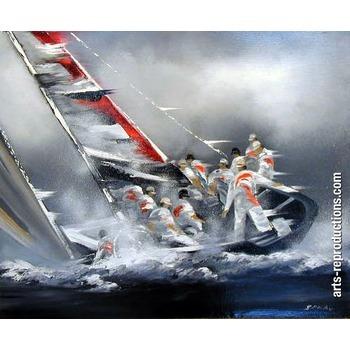 Toile peinture huile DIVmarine52 tableau Tableaux Paysages Mer Arts ...