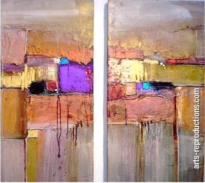 Triptyque abstrait cicigrp168 tableau tableaux triptyques arts reproductions - Tableau original contemporain ...