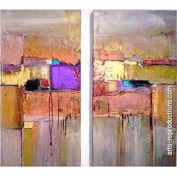 triptyque abstrait cicigrp168 tableau tableaux triptyques arts reproductions peinture l huile. Black Bedroom Furniture Sets. Home Design Ideas