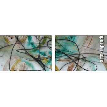 tableau abstrait diptyque cicigrp282 tableau tableaux triptyques arts reproductions peinture. Black Bedroom Furniture Sets. Home Design Ideas