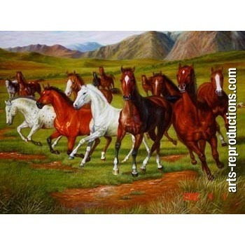 tableau peint johs031 tableau tableaux cheval arts reproductions peinture l huile sur toile. Black Bedroom Furniture Sets. Home Design Ideas