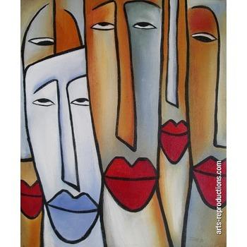 peinture copie le visage tableau tableaux peintures figuratives arts reproductions peinture l. Black Bedroom Furniture Sets. Home Design Ideas