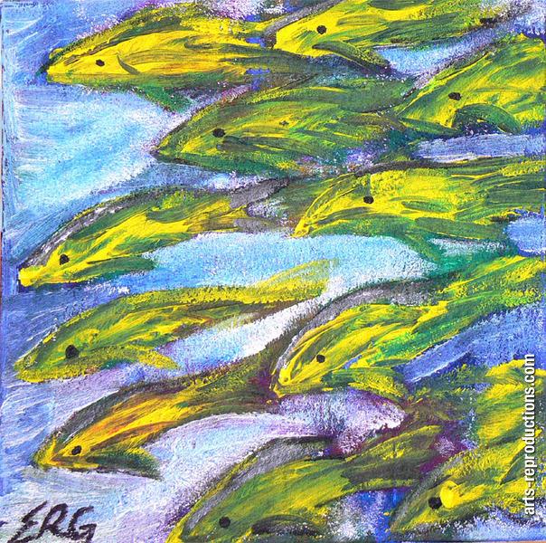 Tableau moderne pas cher poissons tableau editions for Reproduction de tableaux modernes