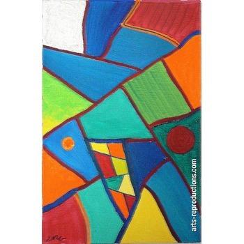 Assez Tableau moderne abstrait Poissons 2 tableau Editions limitées Arts  QJ39