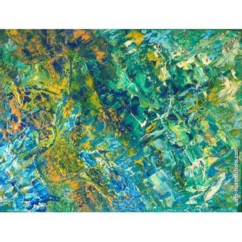 toile artistique tang sous la verdure tableau oeuvres d 39 art arts reproductions peinture l. Black Bedroom Furniture Sets. Home Design Ideas