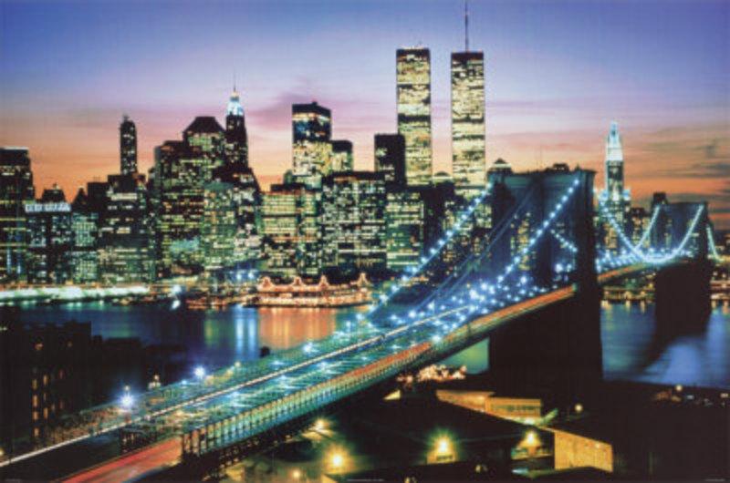 reproduction d art new york 6 tableau tableaux paysages villes arts reproductions peinture l. Black Bedroom Furniture Sets. Home Design Ideas