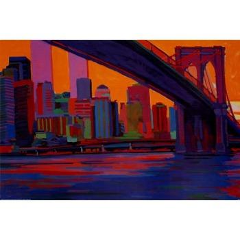 Toile peinture new york 13 tableau tableaux paysages - Tableau toile new york ...