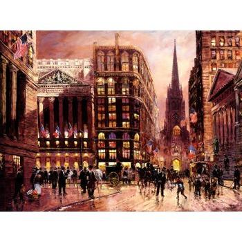 peinture toile new york 29 tableau tableaux paysages villes arts reproductions peinture l. Black Bedroom Furniture Sets. Home Design Ideas