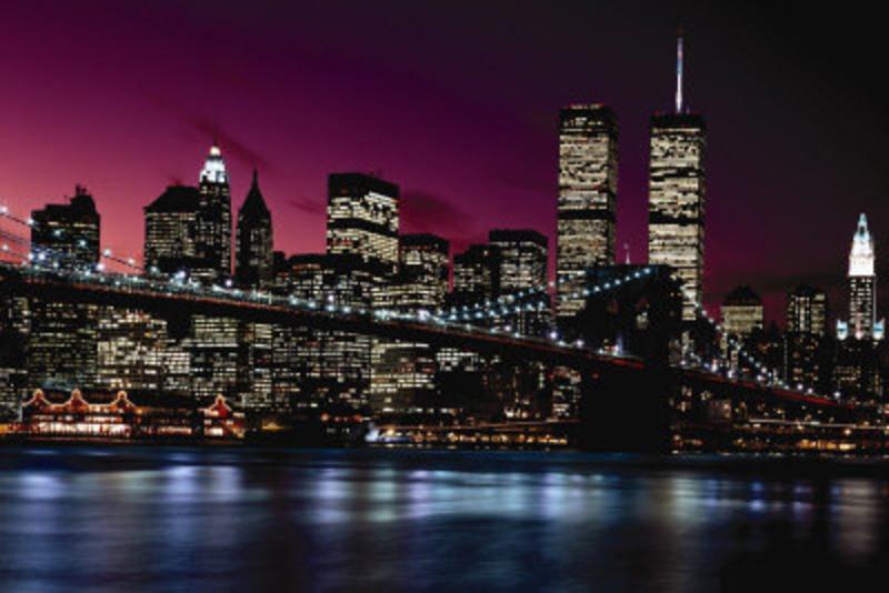 Tableau sur toile pas cher new york bridge tableau for Tableau lumineux new york