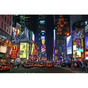 Toile peintre New york time square nuit tableau Tableaux Paysages ...