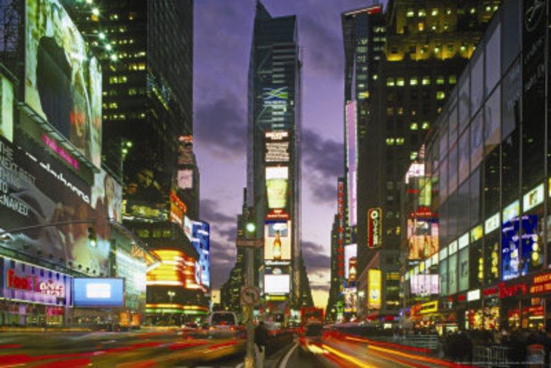 Peinture sur mesure New york Times square tableau Tableaux Paysages ...