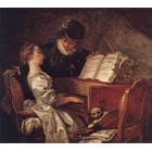 Reproduction tableau peint Fragonard014