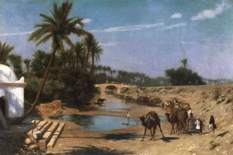 Copie tableau de maitre bridgman001 tableau orientalisme - Tableau de maitre reproduction ...