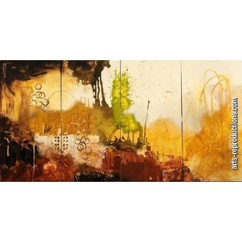 Tableau abstrait triptyque CIgroup paintingModern_Painting_NDP891 ...