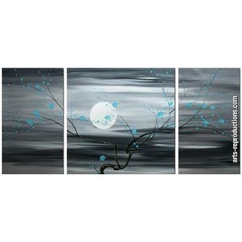 Tableau triptyque contemporain cigroup paintingset016 tableau tableaux tripty - Tableau peinture triptyque ...