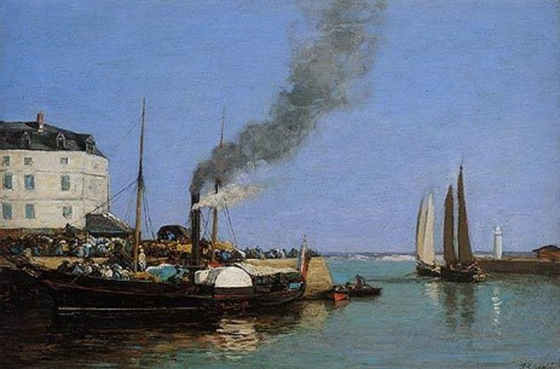 Reproduction peinture de peintre boudin111