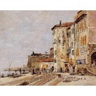 Reproduction tableau toile boudin047