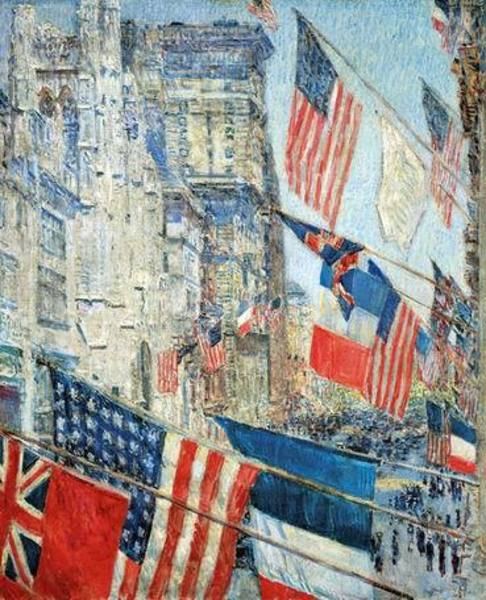 Toile tableau hassam025