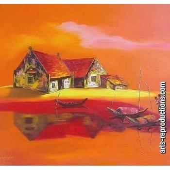 Reproduction tableaux contemporains civpaint145 tableau tableaux paysages art - Tableaux tryptiques contemporains ...