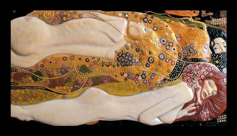 Tableau 3D Bas relief Serpent I Klimt