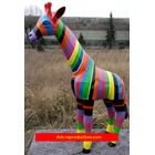 Statue animal en résine GIRAFE PM MULTICOLORE 120cm