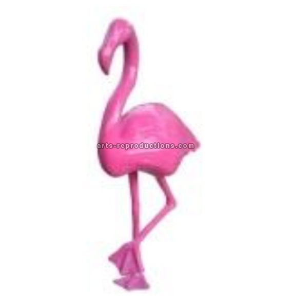 Sculpture animal en résine FLAMAND ROSE GM MONOCHROME
