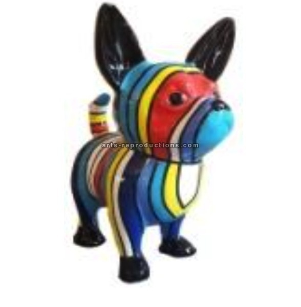 Sculpture animal en résine CHIHUAHUA GM MULTICOLORE