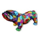 Sculpture animal en résine BULLDOG BOULEDOGUE ANGLAIS PM DEBOUT SMARTIES