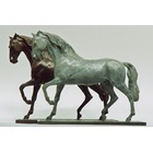 Sculpture d'art Statue en Bronze Chevaux lusitanien 003